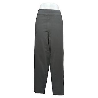 Susan Graver Women's Plus Pants Slim Leg Pull-On Gray A294872