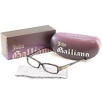John Galliano Eyeglasses Frame JG5009 052 Plastic Brown Italy Made 53-15-135