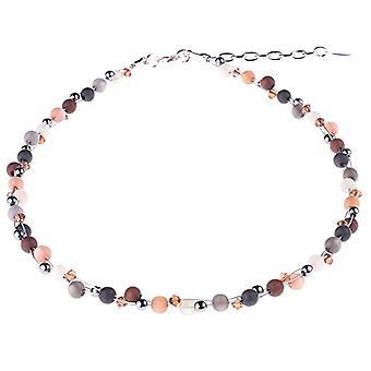 """colier propulsat """"Johanna"""", amestec de perle Polaris și materiale din sticlă, lucrat manual de bijuteriile Adi din Berlin. Ref.. 425118862951"""