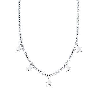amor Kvinnors halsband med stålstjärna hänge