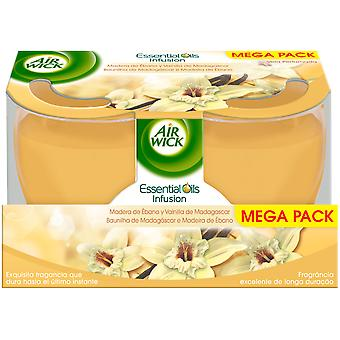 Air Wick Vanilla and Madagascar Ebony Scented Candle 2 x 105 gr