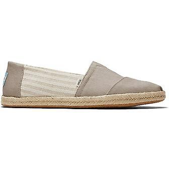 TOMS Alpargata Köysi Oxford Miesten Puuvilla Slip On Shoes Tan