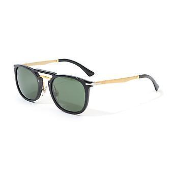 Persol Green Lens Sunglasses - Black & Gold