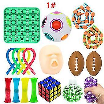 1# צעצועים פידג'ט חיישת להגדיר צרור כדורי הפגת מתח az16933