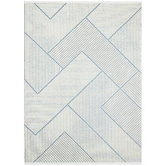 Jazz Jaz13 Geometric Indoor Outdoor Rugs In Blue