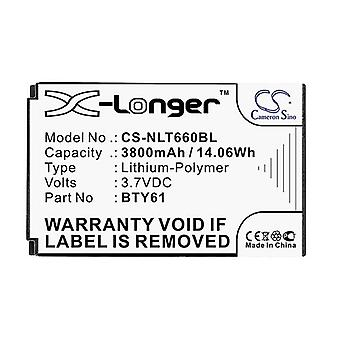 Cameron Sino Nlt660Bl Battery Replacement For Newland Barcode Scanner
