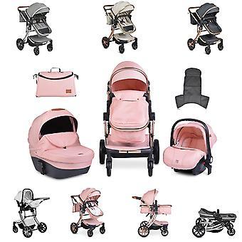 Moni cochecito Polly 3 en 1 portabebés, baño de bebé, asiento deportivo, plegable, bolsa
