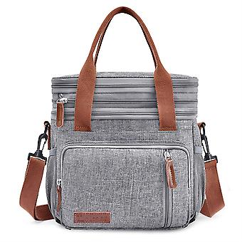 Swotgdoby Large Capacity Soft Cooler Tote Insulated Lunch Bag Stripe Outdoor Picnic Bag
