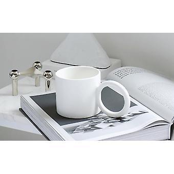 Creative Big Round Handgrip Ceramics Mugs Coffee Mug (white)