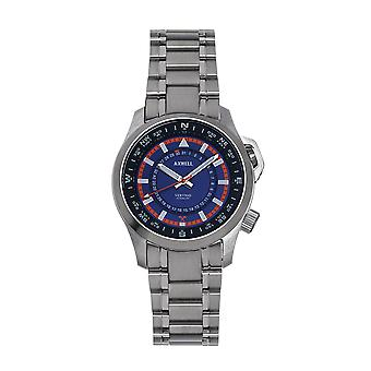 Axwell Vertigo Bracelet Watch w/Date - Blue