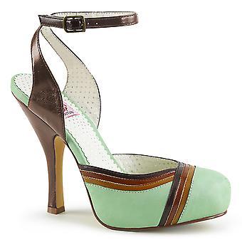 Pin mujeres's zapatos hasta menta multi cuero sintético