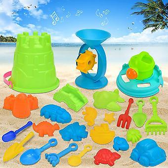25PCS sandspielzeug Set,Sandspielzeug,sandkasten Spielzeug,Sand Strand Spielzeug für Kinder,Netz