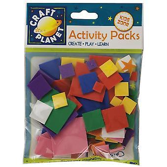 Blandade Skum Kvadrat former för barn hantverk