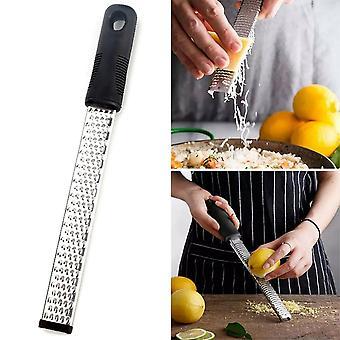 Stainless Steel Cheese Food Grater Zester Ginger Shredder Hand Held Flat Tool