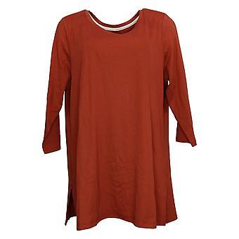 Isaac Mizrahi Live! Top Reg donna 100% Cotone Jersey Arancione