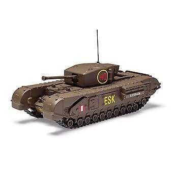צ'רצ'יל מורג (המשמר הסקוטי השישי בחטיבה 1943) Diecast טנק מודל