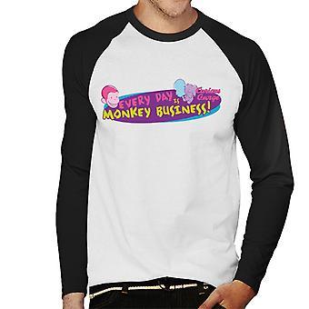 Curious George Every Day è una t-shirt da uomo da uomo da baseball scimmia a maniche lunghe