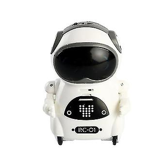 Detský mini inteligentný hlasový dialóg tanečný vreckový robot (biela)