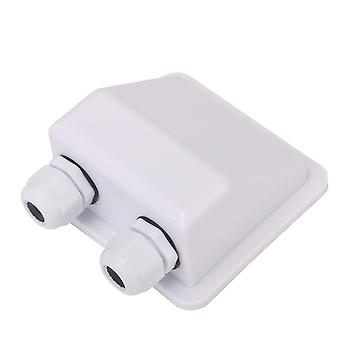Cable trays ip68 double cable entry gland box abs plastic entry housing for rv white