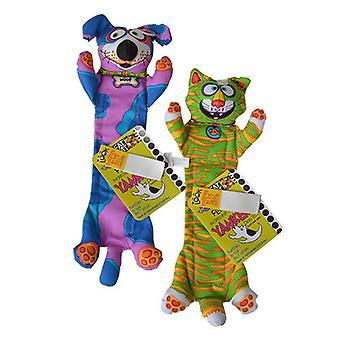 """Fat Cat Incredible Strapping Flip Flop Yankers Dog Toy - Assorted - 1 Toy (14"""" Long x 3"""" Wide)"""