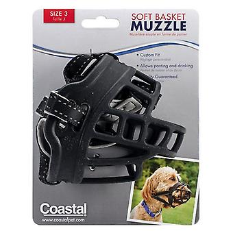 Coastal Pet Soft Basket Muzzle for Dogs Black - Size 3
