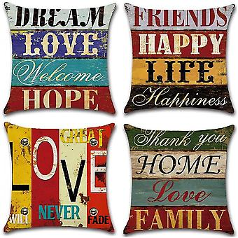 Pack Of 4  Pillow Covers Home Decor For Sofa Car Bedroom 18x18 Inch