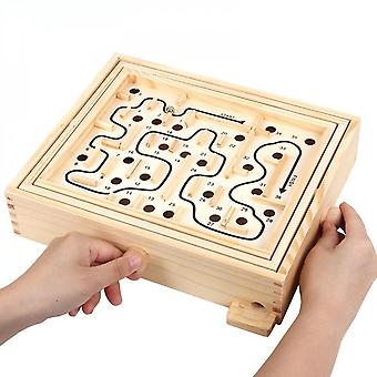 Children's Adult Interactive Board Game Balance Ball Maze Intelligence Intelligence Wooden Toys Children's Educational Toys-s Code