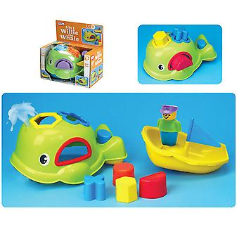 Fun Time Willie The Whale 5 in 1 Shape Sorting Bath Toy