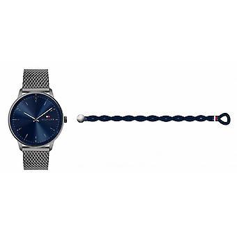 menns klokke tommy hilfiger klokker gave sett - 2770112 stropp stål grå