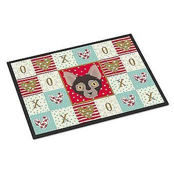 Door mats carolines treasures ck5128mat lykoi cat love indoor or outdoor mat 18x27