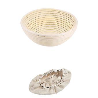 Käsintehty boheemi rottinki paju ruoan varastointi korit (22x8.5cm)