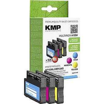 Tinta KMP sustituye HP 933XL Set Compatible cian, Magenta, amarillo H105V 1726,4050