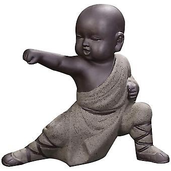 Mönch Ornamente Buddha Statue Puppe Kung Fu Tee Tablett Auto Home Office Ornamente