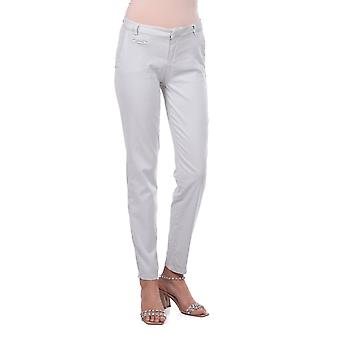Hvite Kvinner Bomull Bukse