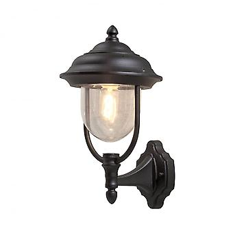 Konstsmide Parma Up Turned Wall Lantern Matt Black