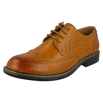 Mens Malvern Lace Up Brogue Shoes A2143