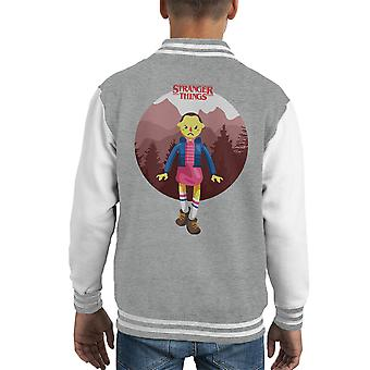 Fremde Dinge elf großen Kid Varsity Jacket