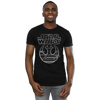 Star l'ultimo Jedi resistenza Logo metallico t-shirt Wars maschile