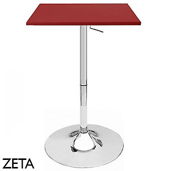 Set of 4 Zeta Contemporary Adjustable Bar Table - Cabernet Red