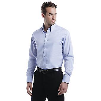 Kustom Kit Tailored Fit Oxford Long Sleeve Shirt-KK188