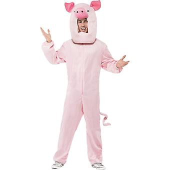 Pig costume pink Bodysuit with hood