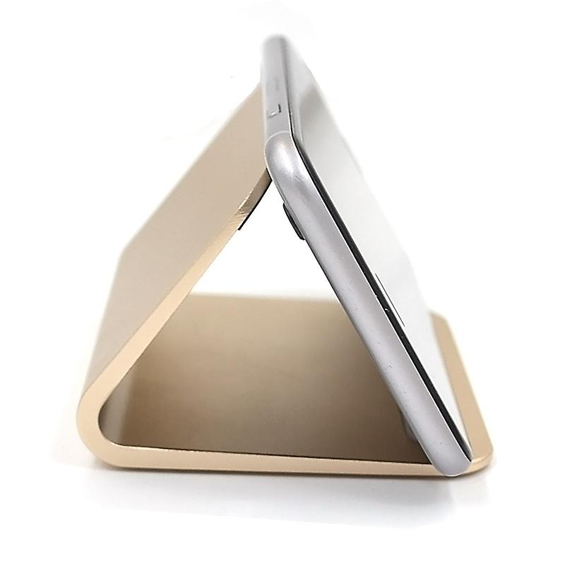 Universal Metal Phone Holder Stand - Compatible with iPhone and Android Smartphones - Desktop Mount Mobile Phone Portable Cradle - Gold