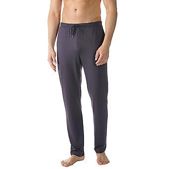 Mey 65660-668 mannen Jefferson blauwe effen kleur Pajama pyjama's Pant