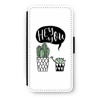 iPod Touch 6 Flip Case - Hey u cactus