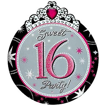 Amscan Sweet 16 Invitations (Pack Of 8)