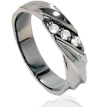 Diamond Ring 14K Black Gold