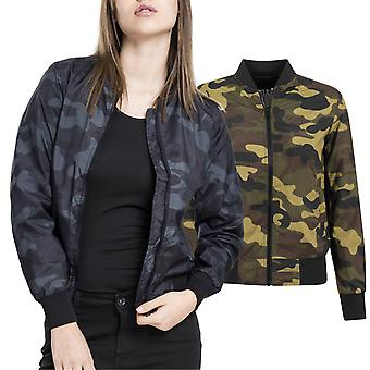 Urban classics ladies - LIGHT BOMBER lightweight jacket army camo