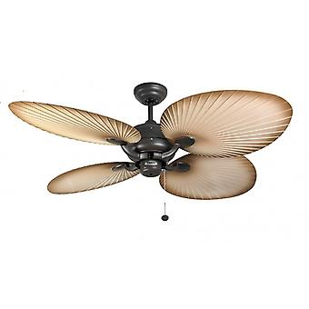 Outdoor Ceiling Fan Palm Chocolate Brown 132cm / 52
