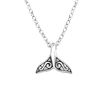 Whale's Tail - 925 Sterling Silver Plain Necklaces - W32235x