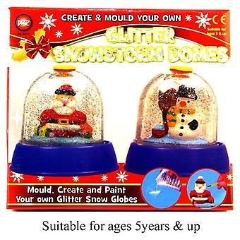 Glitter sneeuwstorm koepels mal maken en uw eigen kinderen Speeltoestel Tekenoppervlakken